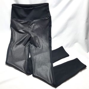 Spanx Assets Faux Leather Panel Leggings